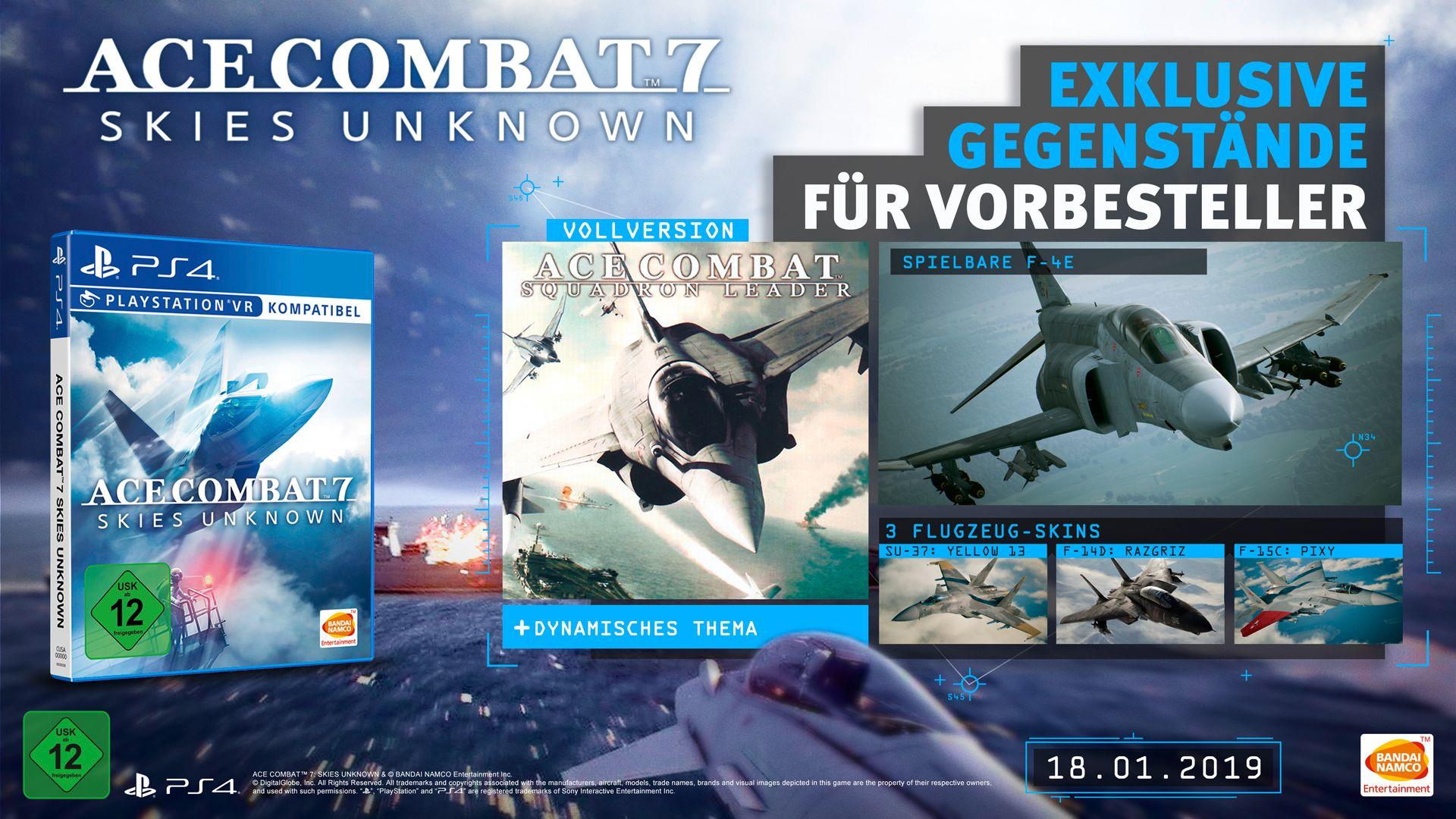 Ace Combat 7 - Preorder Bonus PS4