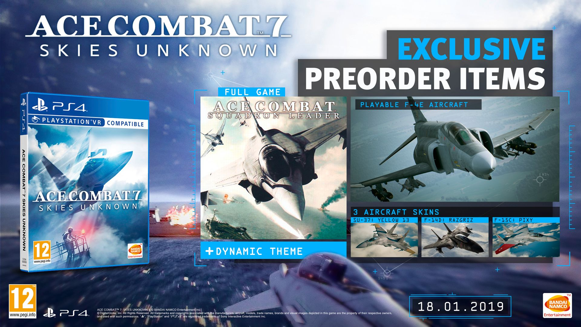 Pre-order bonus and deluxe edition revealed for ACE COMBAT 7