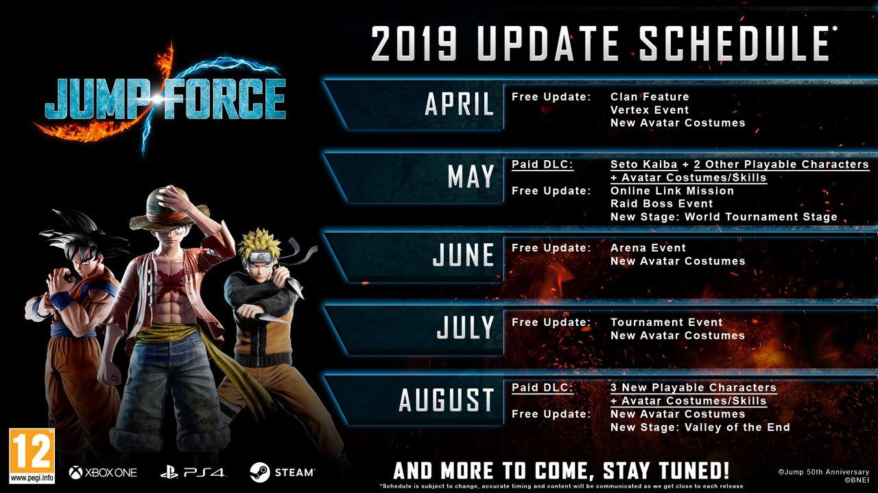 Jump Force - Post Launch Roadmap