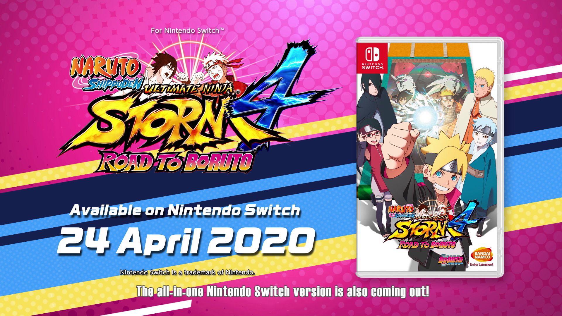 NARUTO SHIPPUDEN: Ultimate Ninja STORM 4 ROAD TO BORUTO arriva su Nintendo Switch il 24 aprile 2020!