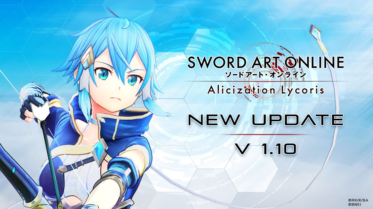 SWORD ART ONLINE Alicization Lycoris Notes de patch Ver1.10
