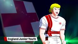 The strong England Junior Youth team joins Captain Tsubasa: Rise Of New Champions