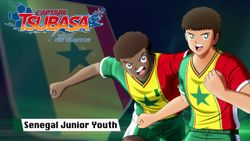 Captain Tsubasa: Rise of New Champions French and Senegalese Junior Youth walk out onto the pitch!