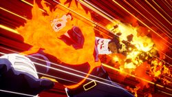 Endeavor sets his foes ablaze in MY HERO ONE'S JUSTICE